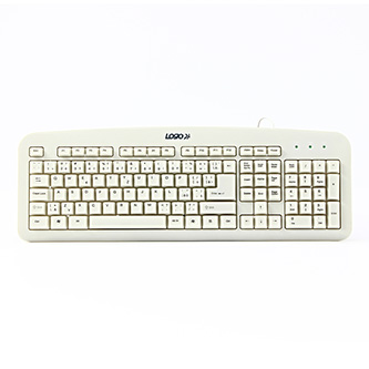 LOGO Standard, Klávesnice CZ/SK, klasická, drátová (USB), bílá