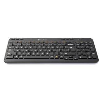 Logitech K360, Klávesnice AA, CZ, multimediální, přijímač Logitech Unifying typ 2.4 [GHz], bezdrátová, černá