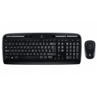 Logitech Sada klávesnice MK330, AAA, multimediální, 2.4 [Ghz], černá, bezdrátová, US, s bezdrátovou optickou myší, 1x AA baterie p