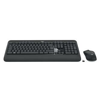 Logitech Sada klávesnice MK540, AA, multimediální, 2.4 [Ghz], černá, bezdrátová, CZ/SK, s bezdrátovou optickou myší, nano přijímač