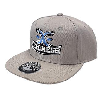 EERINESS snapback, šedá, vyšité logo