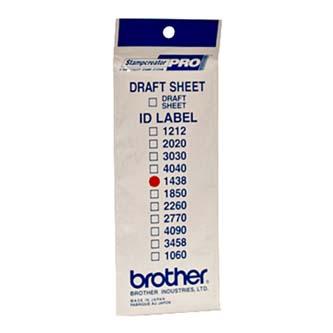 Štítky pro razítka Brother, ID1438, 14x38mm, 12ks, s průhlednou krytkou