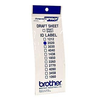 Štítky pro razítka Brother, ID2020, 20x20mm, 12ks, s průhlednou krytkou