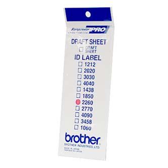 Štítky pro razítka Brother, ID2260, 22x60mm, 12ks, s průhlednou krytkou