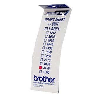 Štítky pro razítka Brother, ID3458, 34x58mm, 12ks, s průhlednou krytkou