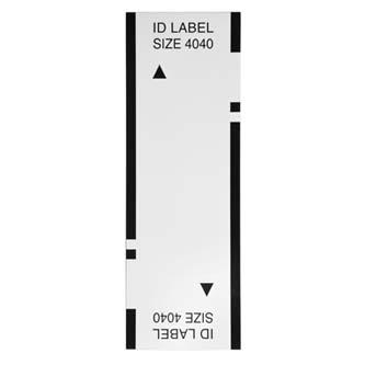 Štítky pro razítka Brother, ID4040, 40x40mm, 12ks, s průhlednou krytkou