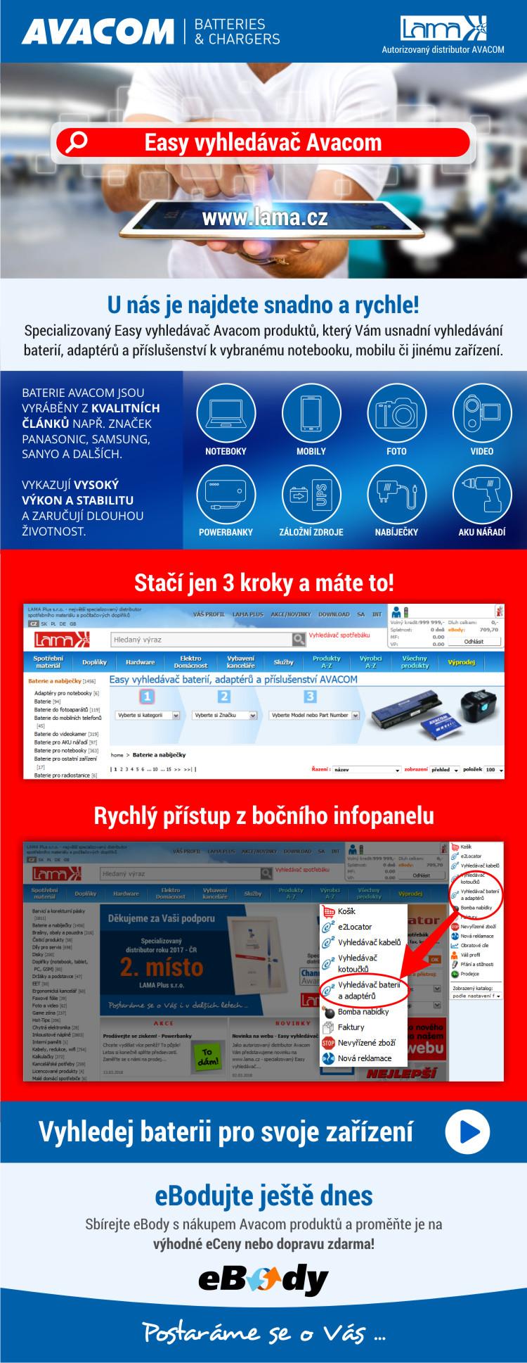 Easy vyhledávač Avacom